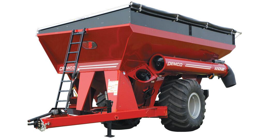 1102 bushel Demco red grain cart