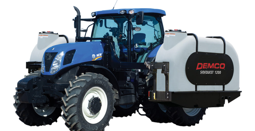 1200 Sidequest Tanks on New Holland Tractor