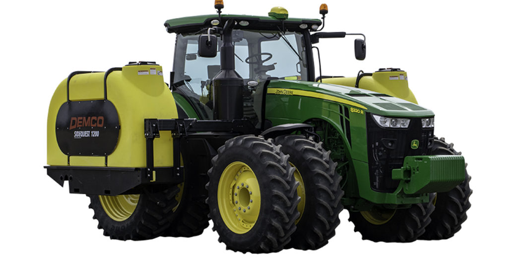 1200 Sidequest Tanks On Green Tractor