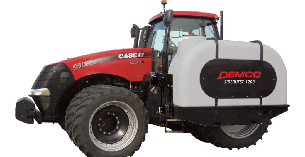 1200 Sidequest Tanks on Case IH Tractor