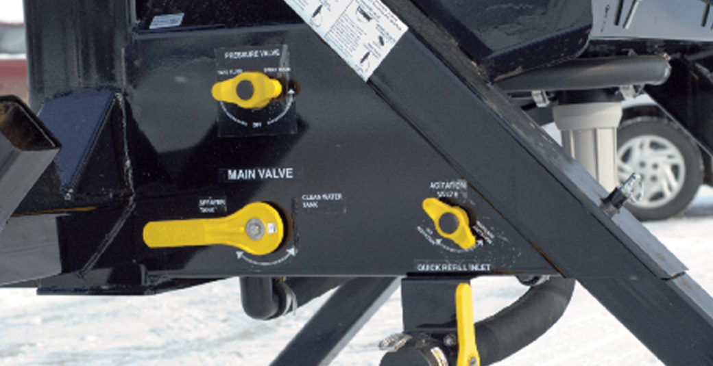 Easy Access Controls for SideQuest Sprayer Tanks