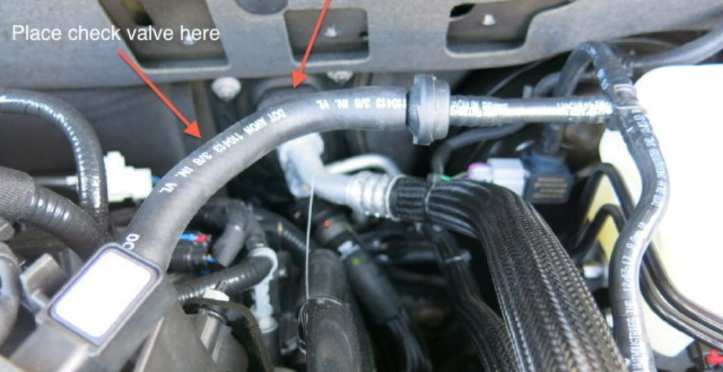 2014 Jeep vacuum connection