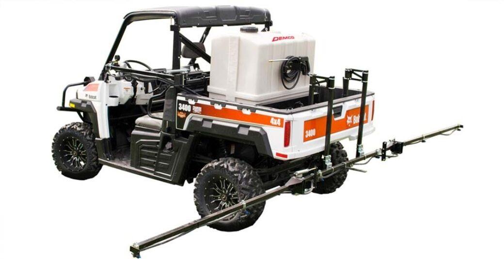 80 gallon UTV Pro Series sprayer on Bobcat UTV