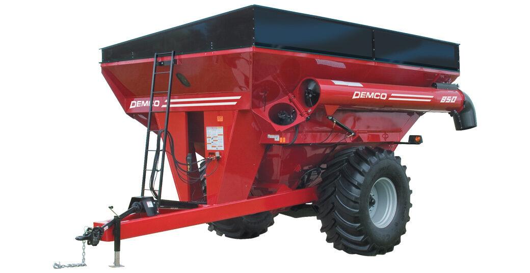 850 bushel red Demco grain cart