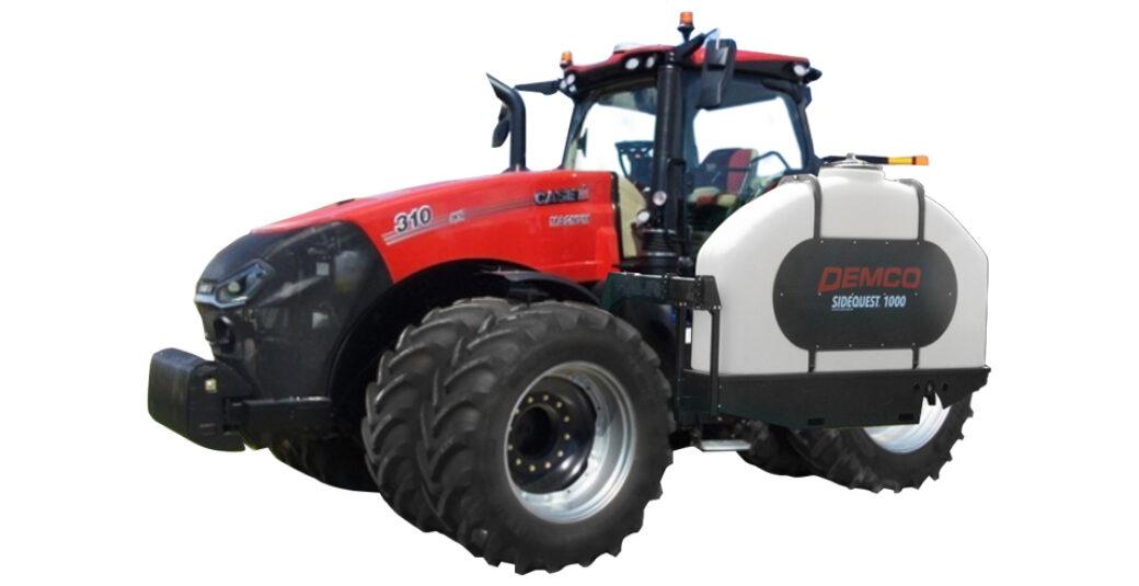 1000 GAllon SideQuest tanks on CaseIH tractor