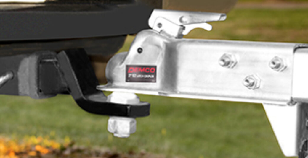 A trailer coupler parts in action