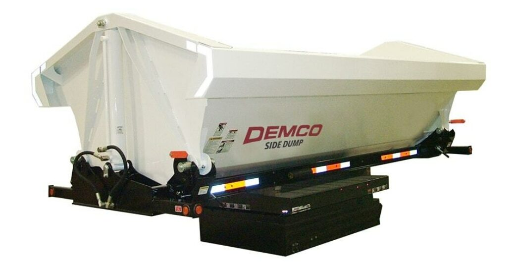 Front View of Side Dump Truck Box