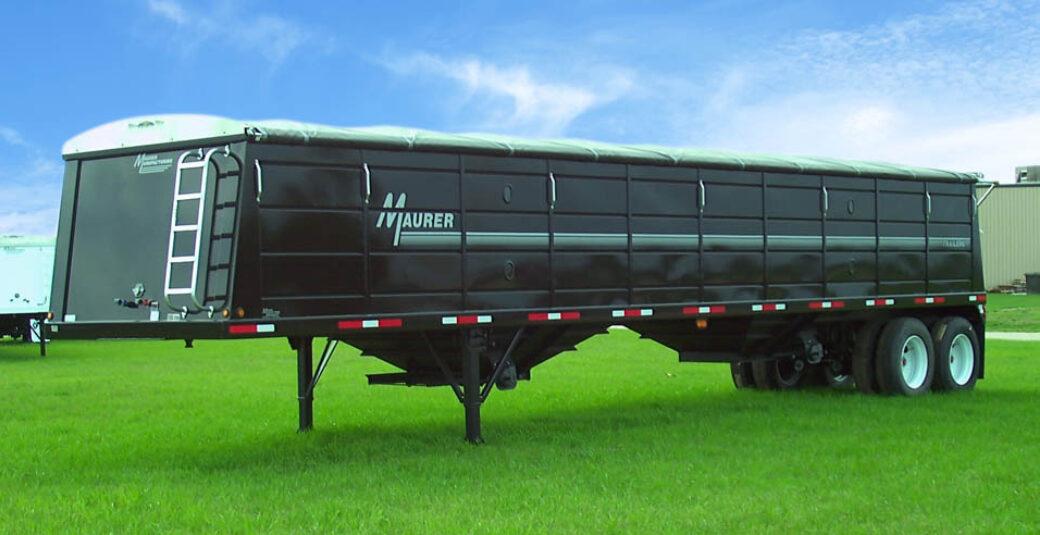 Maurer Black Grain Trailer