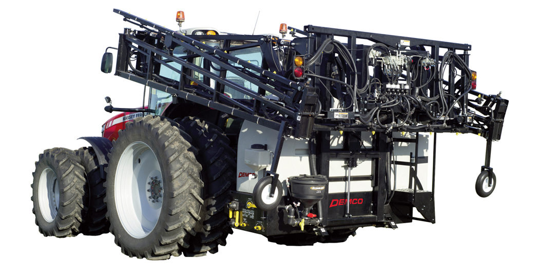 RM600 Gallon Sprayer on Red tractor
