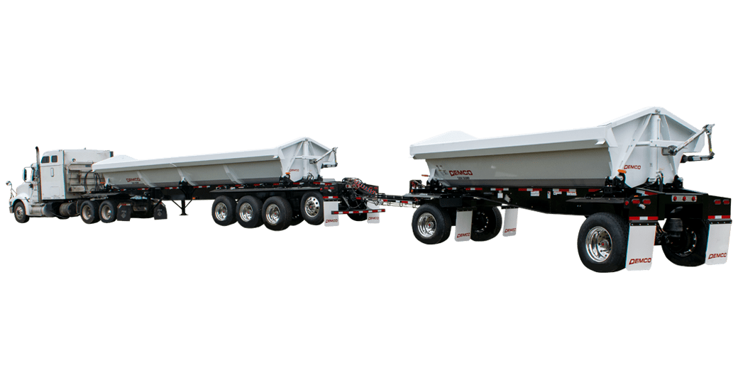 Side Dump with Turn Table and Pup Trailer