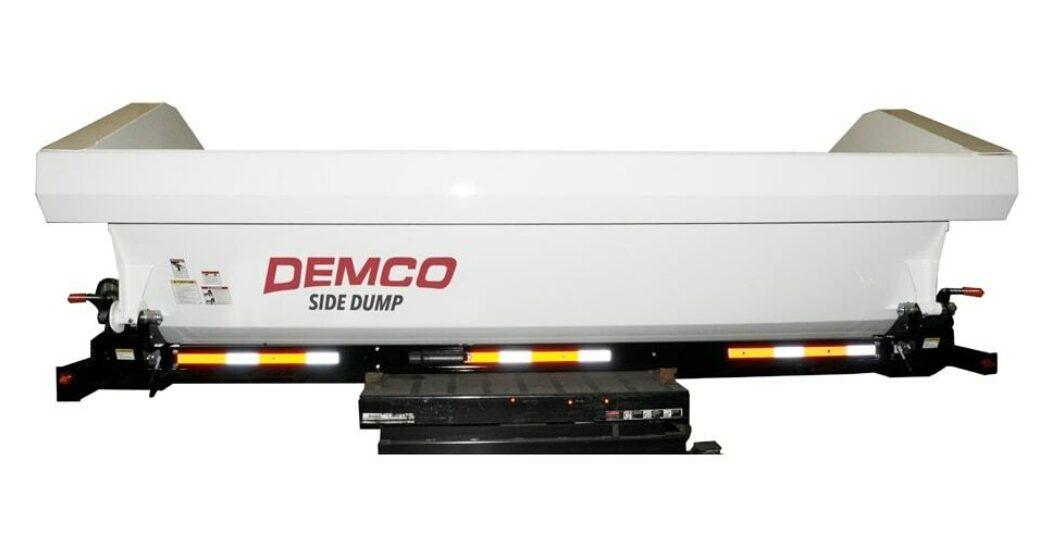 Side View of Side dump truck box