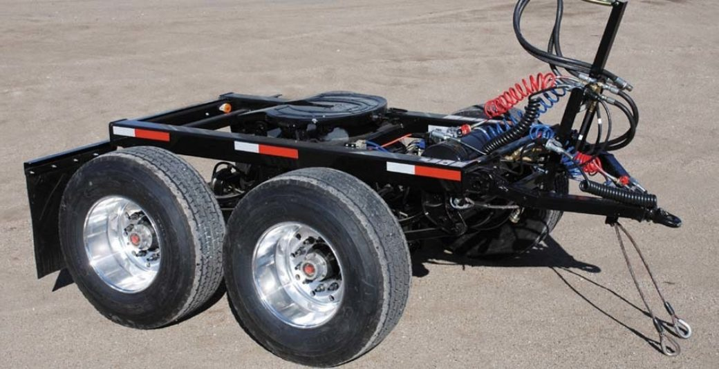 Turntable for side dump trailer