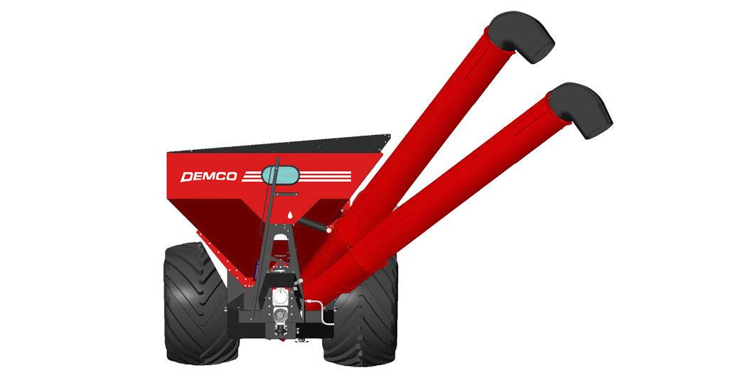 Unload auger height adjust