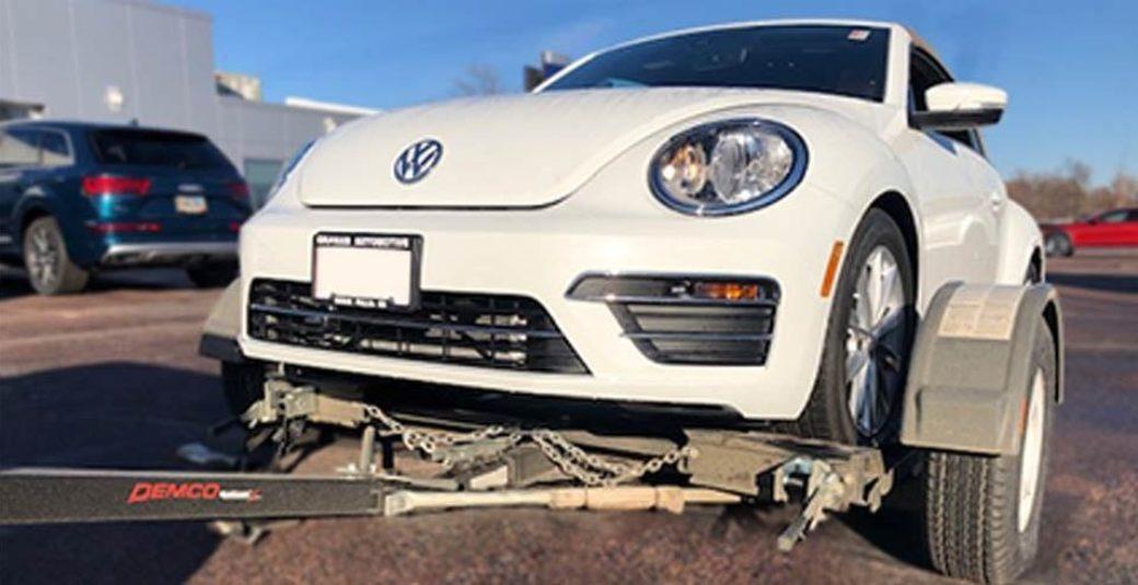 VW on KarKaddy X Tow Dolly