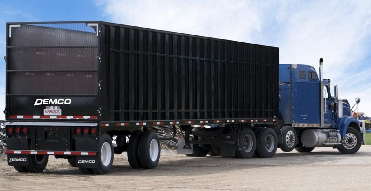 44 foot vented tailgate scrap  trailer
