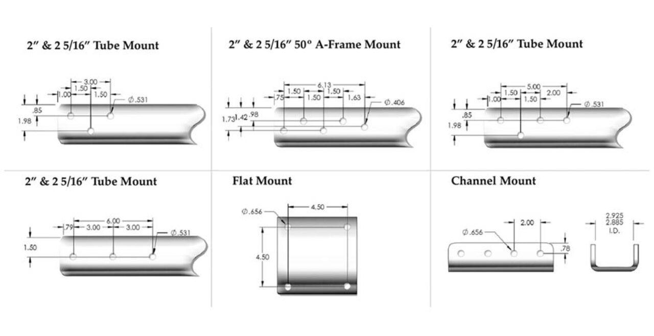 A diagram showing trailer coupler parts