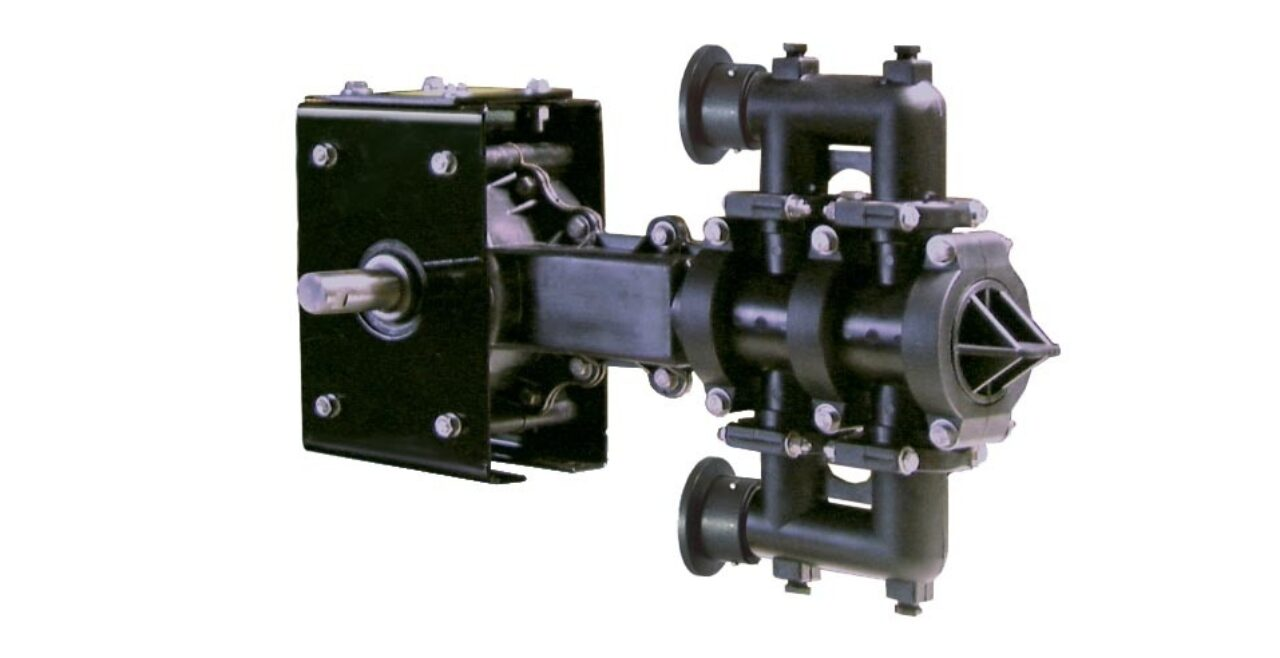 A piston pump used for with fertilizer equipment