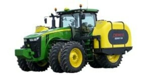Sidequest fertilizer tanks mounted on green tractor
