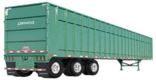 Green scrap trailer