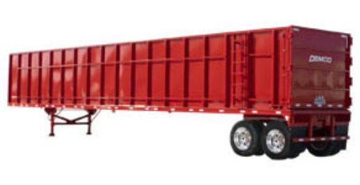 Red scrap trailer