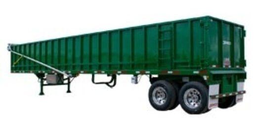 40' Green scrap trailer