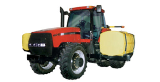 Smaller fertilizer tanks on inline tractor